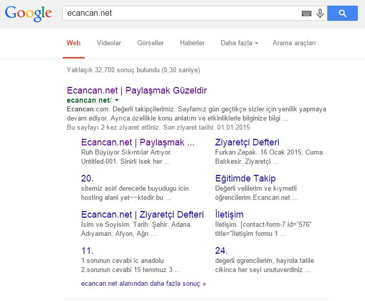 google-alt-baglantilar